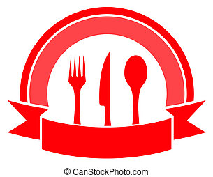 food icon on white background - red food icon on white...