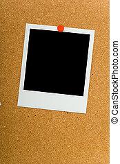 Polaroids on Corkboard