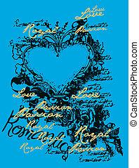 love heart emblem design