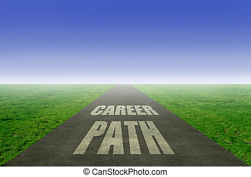 Career path concept, open road leading towards the horizon