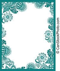 Paisley flower frame