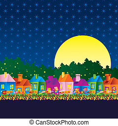 Background caricature house - Background with a caricature...