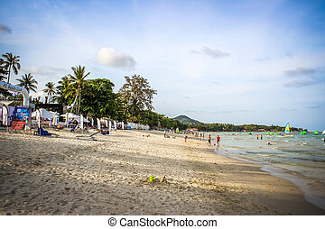 Thailand, Koh Samui, 1 april 2013 panoramic view of Chaweng...