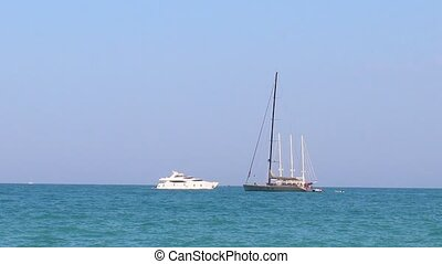 yacht in the Mediterranean