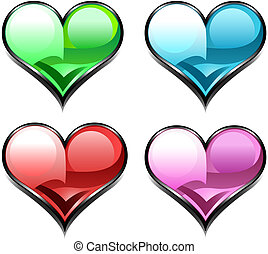 heart diamond web icon