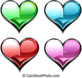 heart diamond web icon
