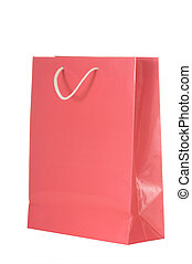Shopping Bags - bright colored shopping bag on white...