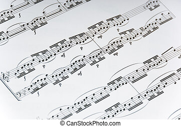 Sheet Music Background - Sheet music backround, violin or...