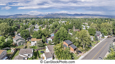 Fort Collins aerial view
