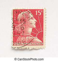 French stamp from France (in European Union)