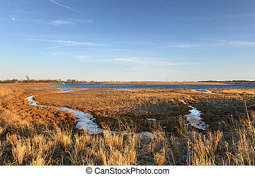 Marine Park Salt Marsh, Brooklyn, New York - View of Marine...