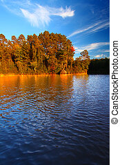Sweeney Lake in northwoods Wisconsin - Beautiful foliage...