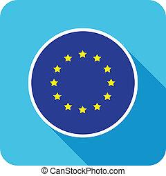 european flat flag icon