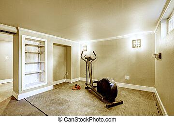 Home gym interior.