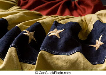 Vintage flag bunting - Vintage American flag bunting or...