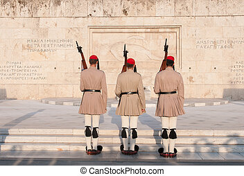 Evzones Athens, Greece - Changing of the Guard: Evzones in...