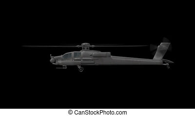 Apache Helicopter - 3d animation of Apache Helicopter with...