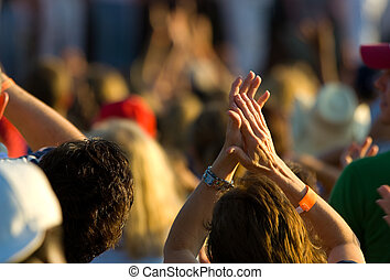 Ladies hands clapping - Focus on knuckles on clapping ladies...