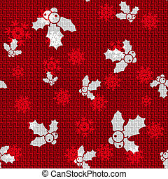 Vector Christmas Hollies - Vector Christmas Background with...