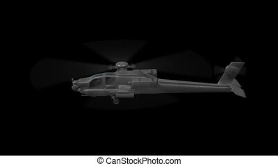 Apache Helicopter - 3d animation of Apache Helicopter moves...