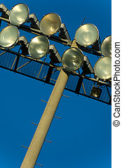 Light Standard Background - Light standard with flood lights...