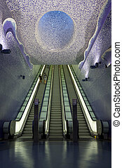 Naples subway, Toledo Station - The Art Stations,...