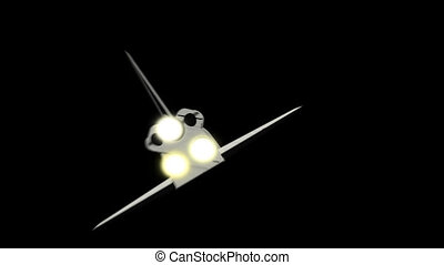 Space Shuttle flies - 3d animation of Space Shuttle flies to...
