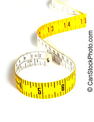 Measuring Tape - Measuring tape on white background - High...