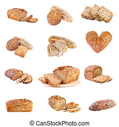 Bread Collection - set of different whole wheat bread
