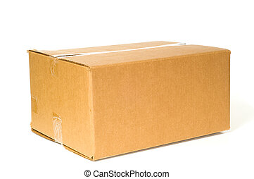 Corrugated Shipping Box - Brown corrugated box with space on...