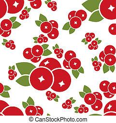 cranberry seamless pattern