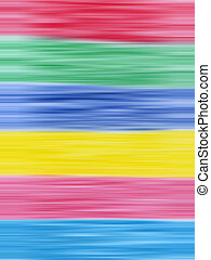 Primary and secondary colors abstract blur stripes background.