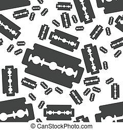 razor blade seamless pattern