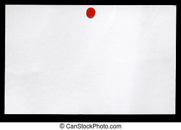 Small white business card isolated on a black background.