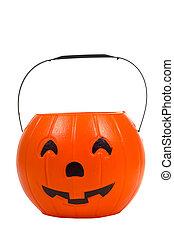 Jack-o-Lantern Decoration - Plastic Jack-o-lantern,...