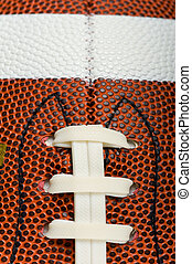 Football Background - Football background with laces,...