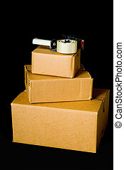 Corrugated Shipping Boxes - Brown corrugated shipping boxes...