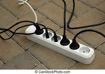 Electrical wires in the sockets
