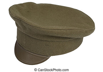 world war 1914 - 1918 army cap isolated on white background