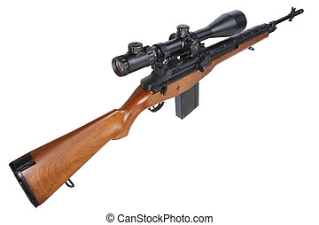 M14 sniper rifle isolated