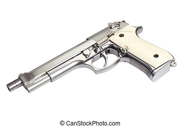 Beretta M9 long gun isolated on white background