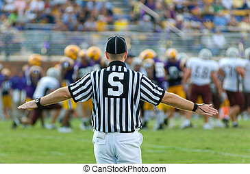 American Football Official  or referee working a game