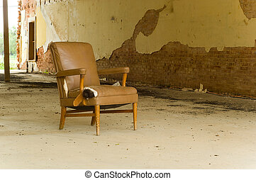 Abandoned Chair - An old abandoned chair left in an...