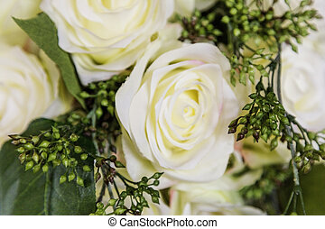 Off White Bouquet - Off white cream colored roses in this...