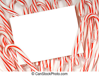 Candy cane notecard