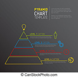 Pyramid chart diagram template - Vector Infographic Pyramid...