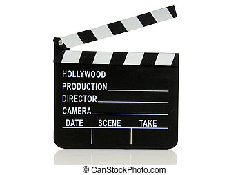 Hollywood Movie Clapboard - Hollywood movie clapboard on...