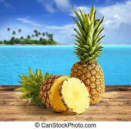 tropicais, abacaxi