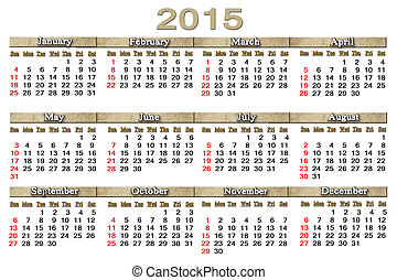 usual calendar for 2015 year - usual office calendar for...
