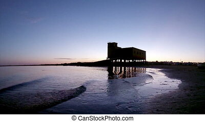 Ria Formosa -Fuseta Sunset - Sunset and historic life-guard...